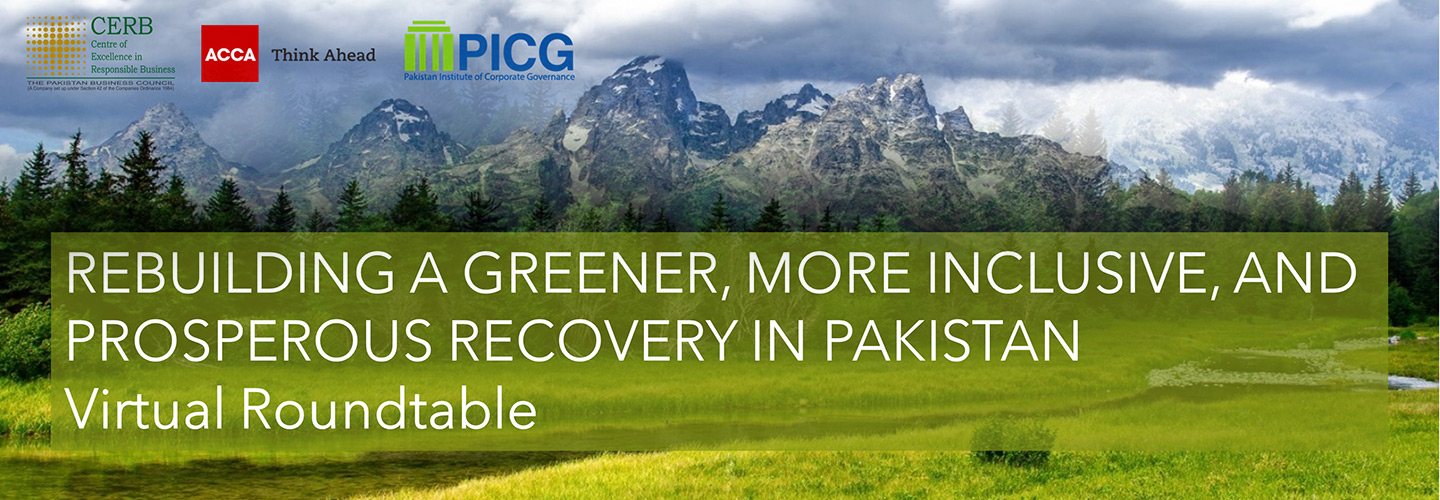 Rebuilding a Greener, More Inclusive, and Prosperous Recovery in Pakistan